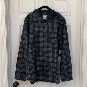 Hurley Hooded Flannel - XL
